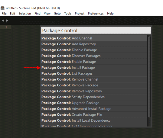 install package control sublime text