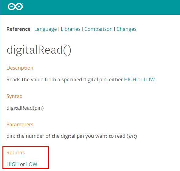 digitalread referencia arduino