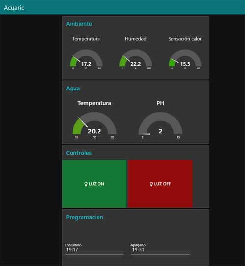 node red dashboard