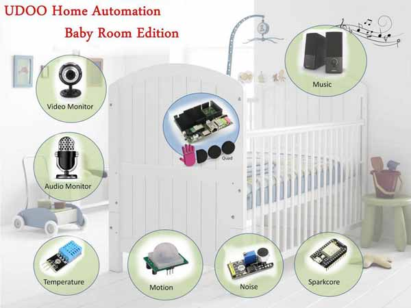 udoo baby room automation
