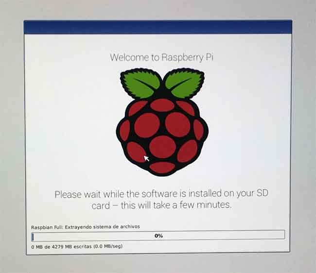 arrancar raspberry pi